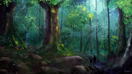 Yakushima Forest + Video with Drawing Process