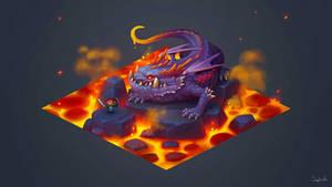 Isometric Lava Dragon +Video