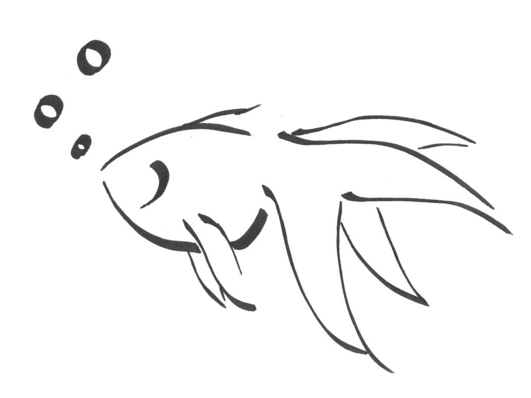 Calligraphy Goldfish By Kdragonfire8 On Deviantart