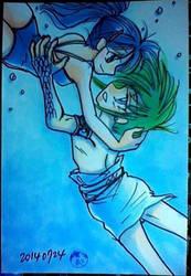 underwater love by marinaogaeri