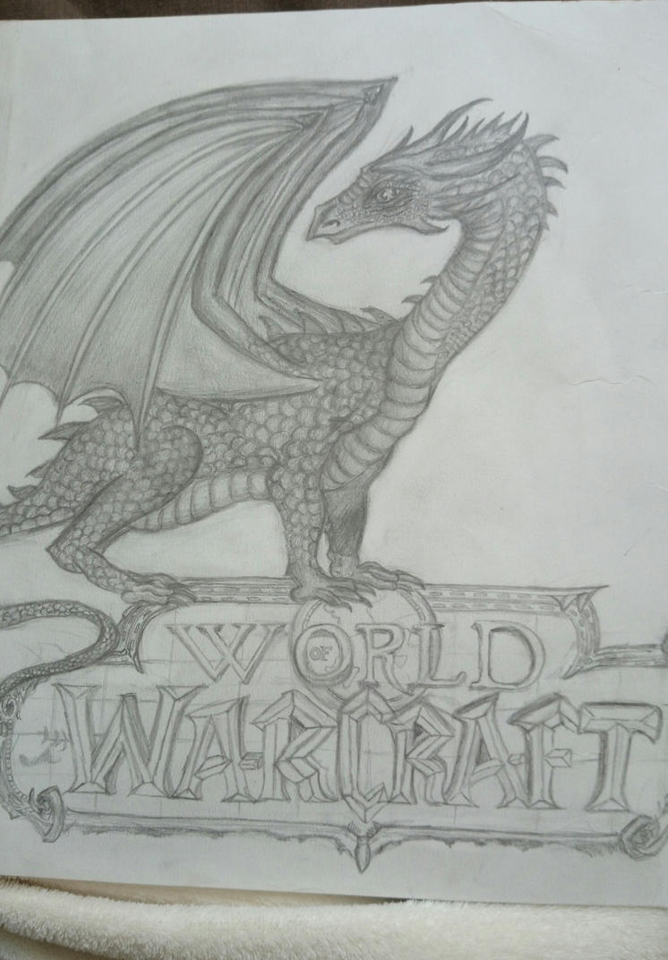 Dragon drawing World Of Warcraft by Riissie