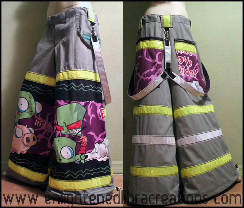 Invader ZIM Raver Phat Pants 5 by RedheadThePirate