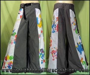 Sesame Street Raver Pants by RedheadThePirate