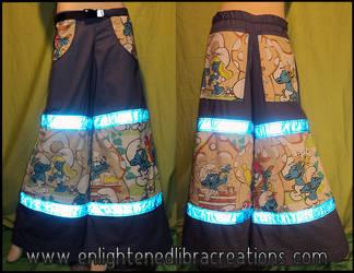 Supa Smurfy Smurf Raver Pants by RedheadThePirate