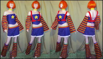 Raver Rainbow Brite Costume by RedheadThePirate