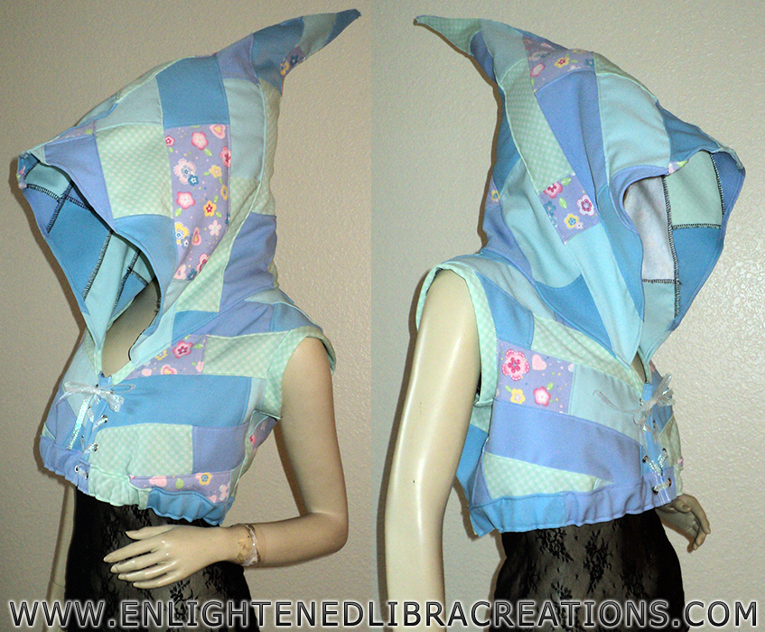 Womens-Patchwork-Elf-Hoodie-Shrug by RedheadThePirate