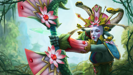 Medusa Loading screen Dota 2 by vertry
