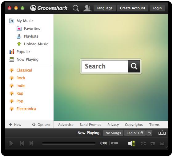 Grooveshark Desktop by Just--Jake