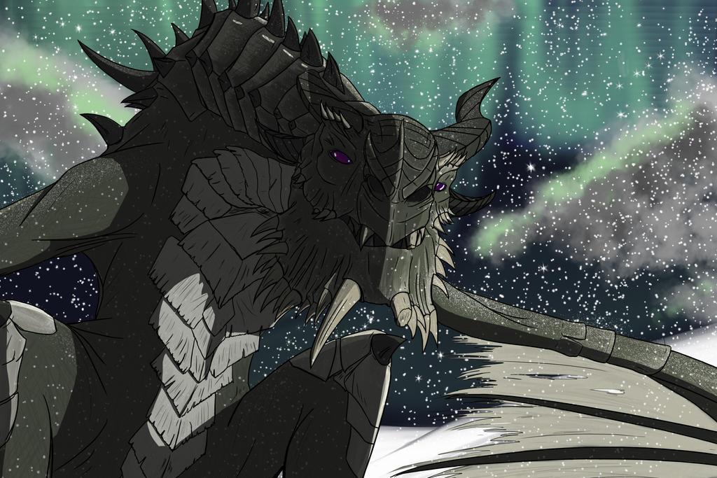 Skyrim dragon by bravo9653