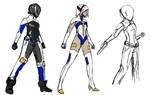 space cop character design