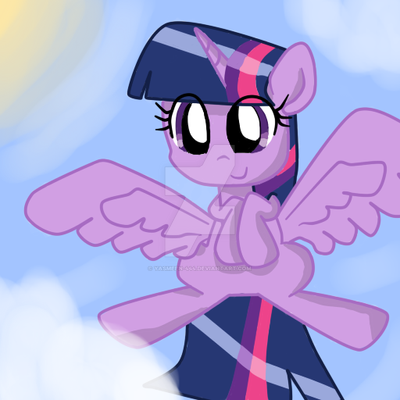 Princess Twilight flying by Yasmeen-444