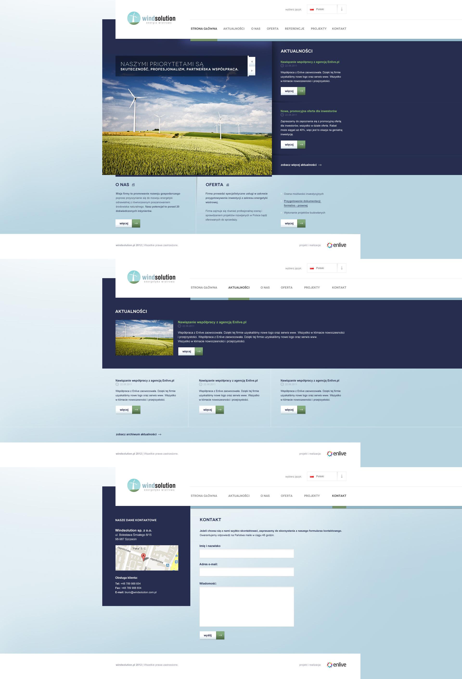 Windsolution website by PapciuZiom