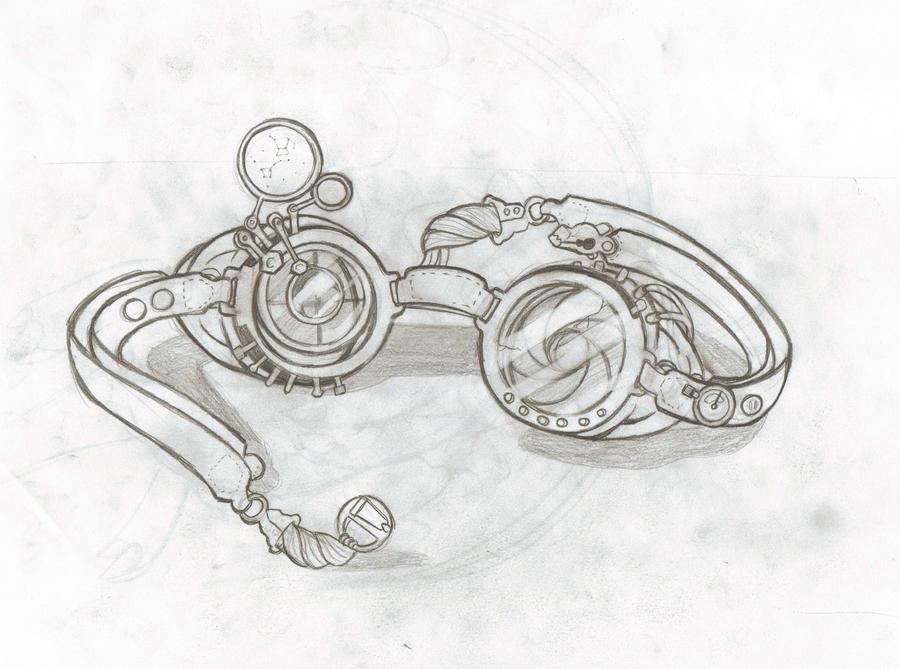 Steampunk goggles 1 by SunnyLedian on DeviantArt