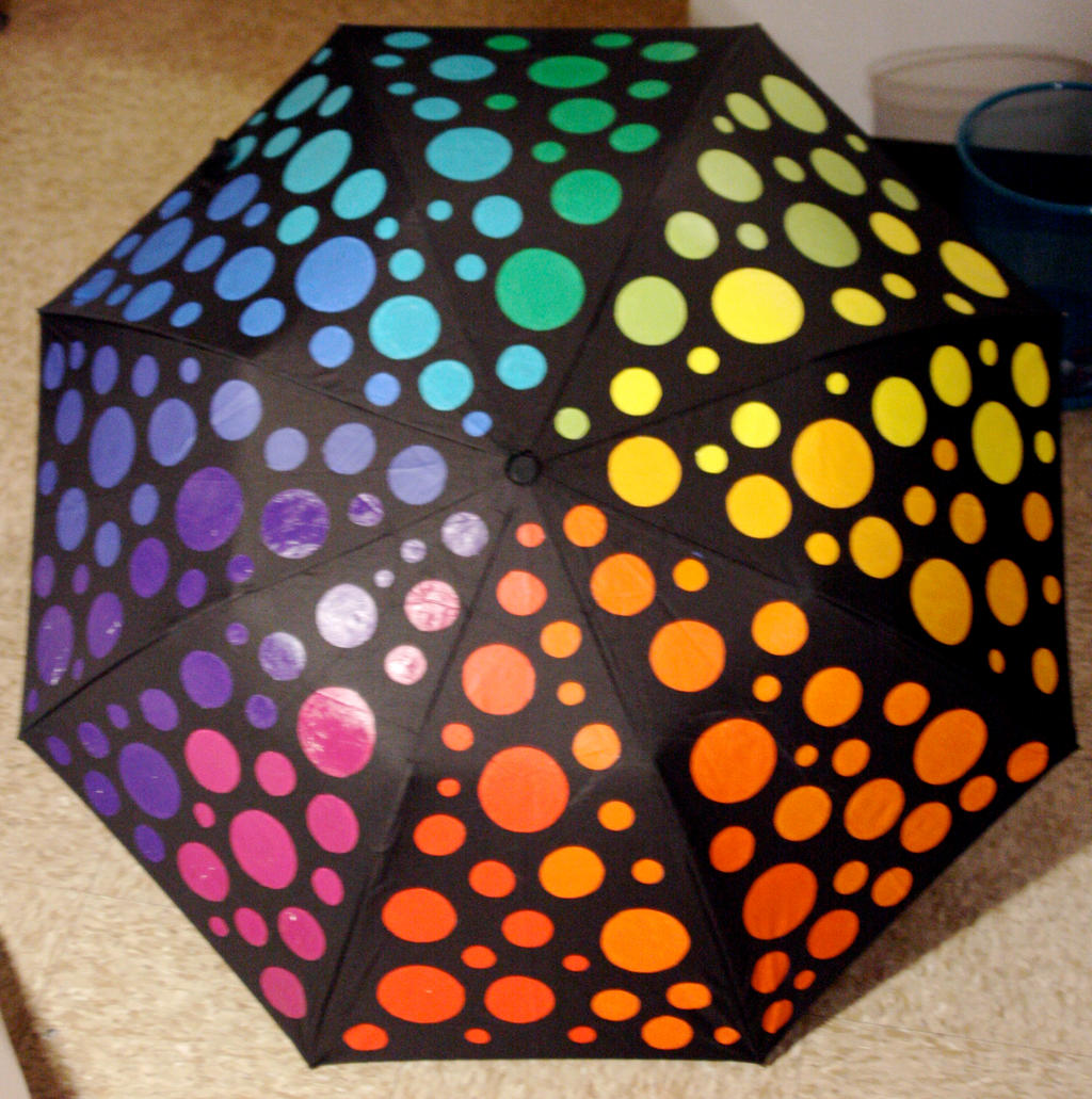 Color Wheel Umbrella By TransparentDream