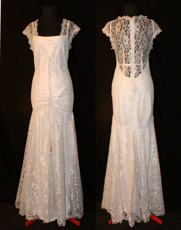 Lace 1920s Style Gown by TransparentDream on DeviantArt