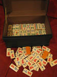Handpainted Custom Mahjong Set by pinktoque