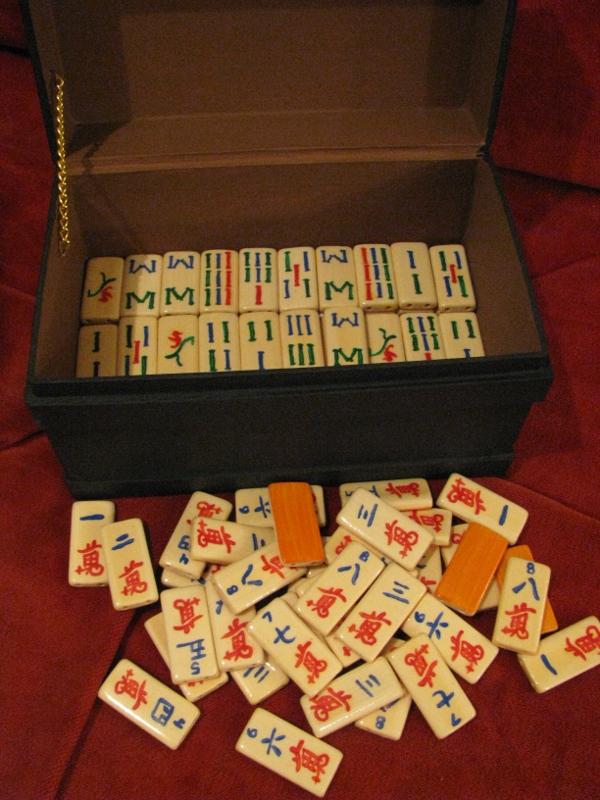 Handpainted Custom Mahjong Set