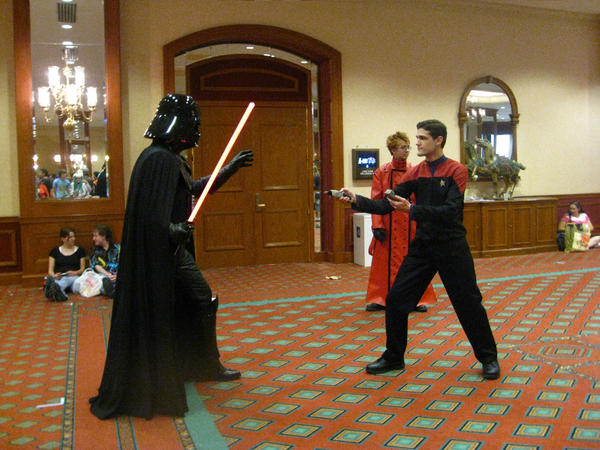 Star Wars vs. Star Trek by FlowerNinjaA