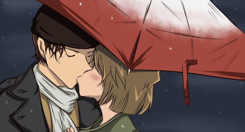 yuki and kiss by windwillows