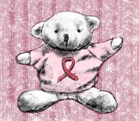 Cancer Society Bear by JKBH