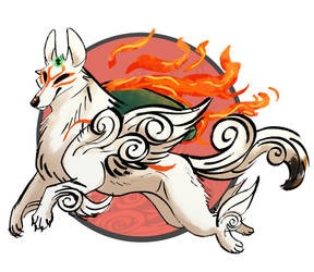 Amaterasu and Issun by JAY-WlNG