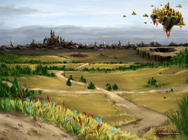 The Cross Way Plains by InksplatterArchitect