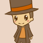 Animated chibi Layton by xlolfishx