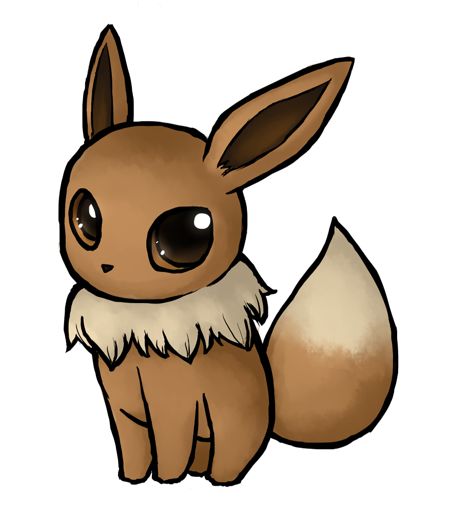 eevee and mew commish by kenneos on deviantart