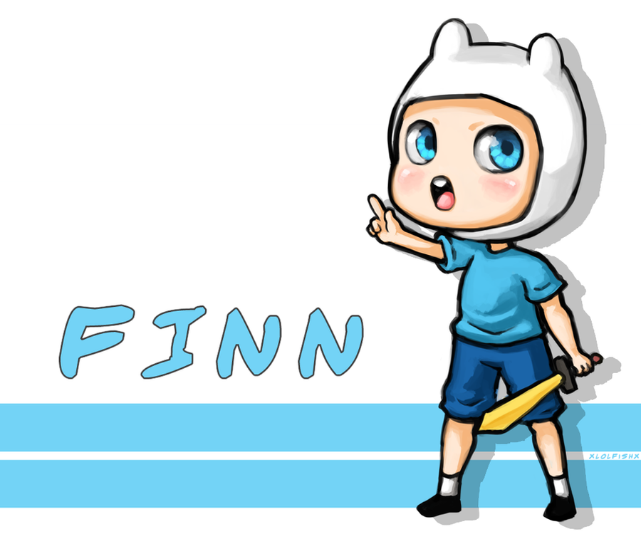 Finn the chibi human by xlolfishx