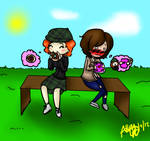 Commission: Discet: Shay And Melody Chibi
