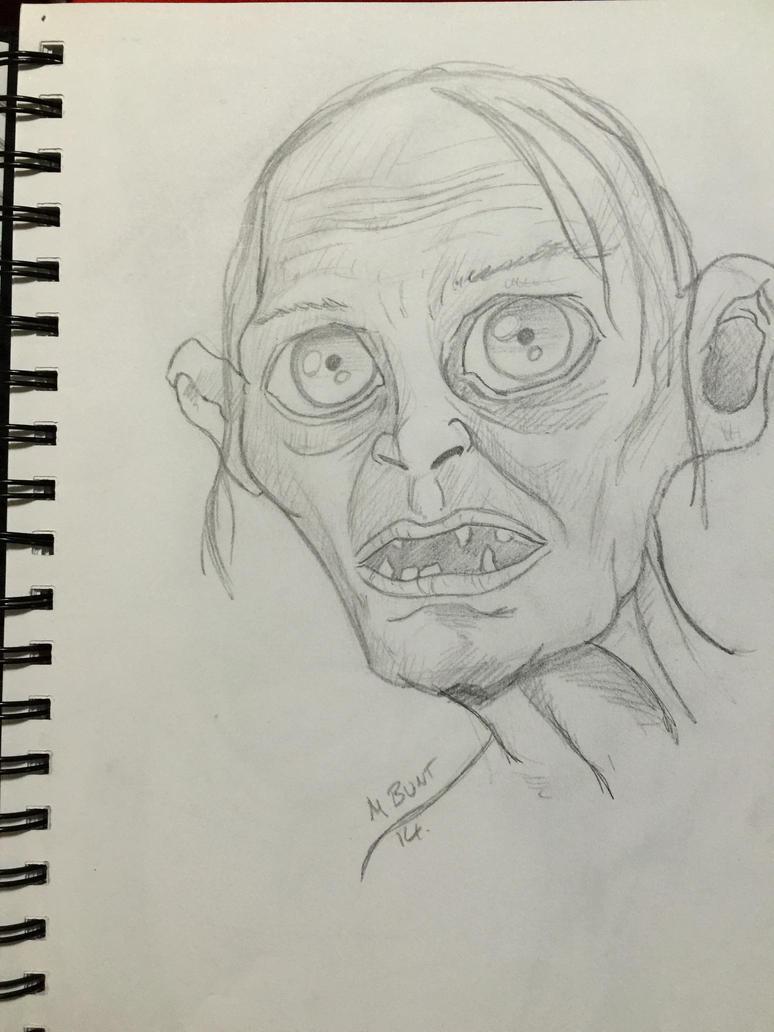 Gollum sketch by mikebunt