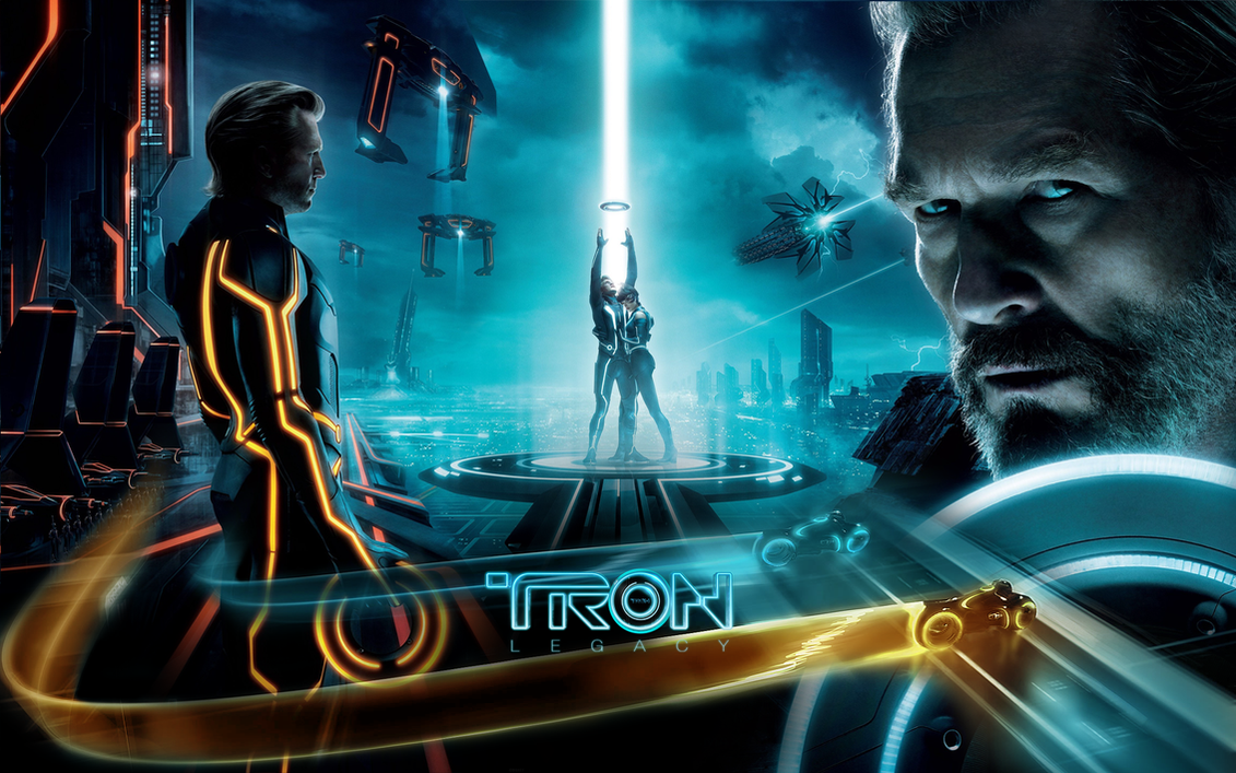 Wallpaper 3d Bike Tron Legacy Download: Tron Legacy Wall By Rehsup On DeviantArt