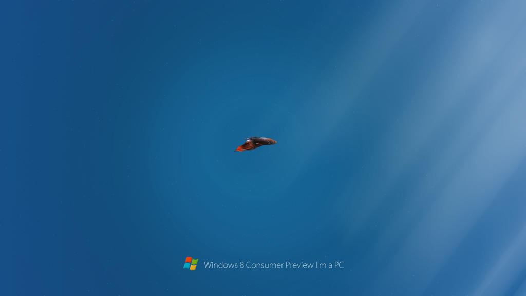 Windows 8 Consumer Preview Beta Fish I'm a PC by rehsup