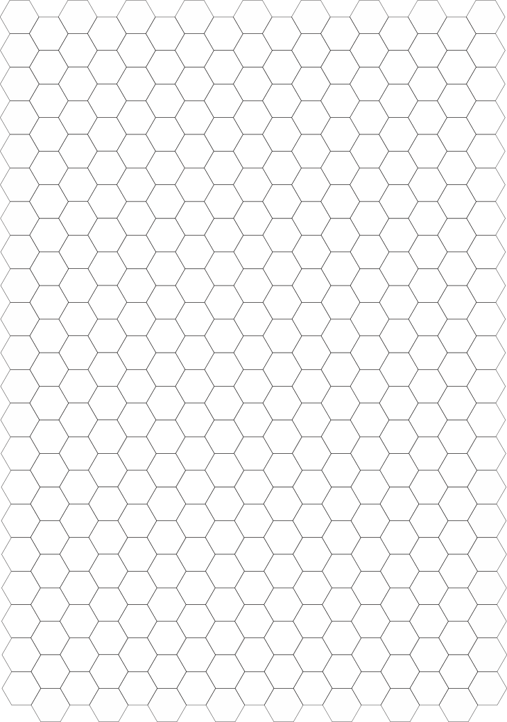 five eighthsinch hex grid by SudsySutherland
