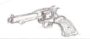 Double Barrel Revolver Front