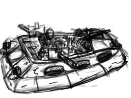 Slammers combat car sketch II