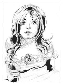 07APR11 Pen and Ink Portrait