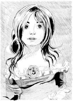 17APR11 Pen and Ink Portrait