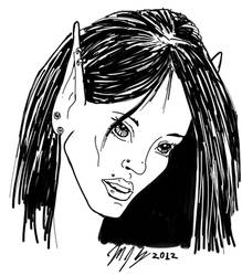 Lady Elf Portrait digital inks 25OCT12