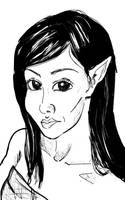 Elvish woman portrait sketch 26OCT12 by SudsySutherland