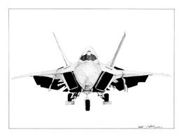 F-22 Raptor Illustration 25JUN2009 by SudsySutherland