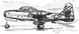 F-84 Takeoff Korea 14NOV13 by SudsySutherland