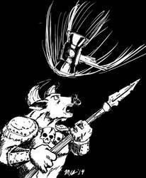 BFRPG Core Spiritual Hammer Spell 14FEB14