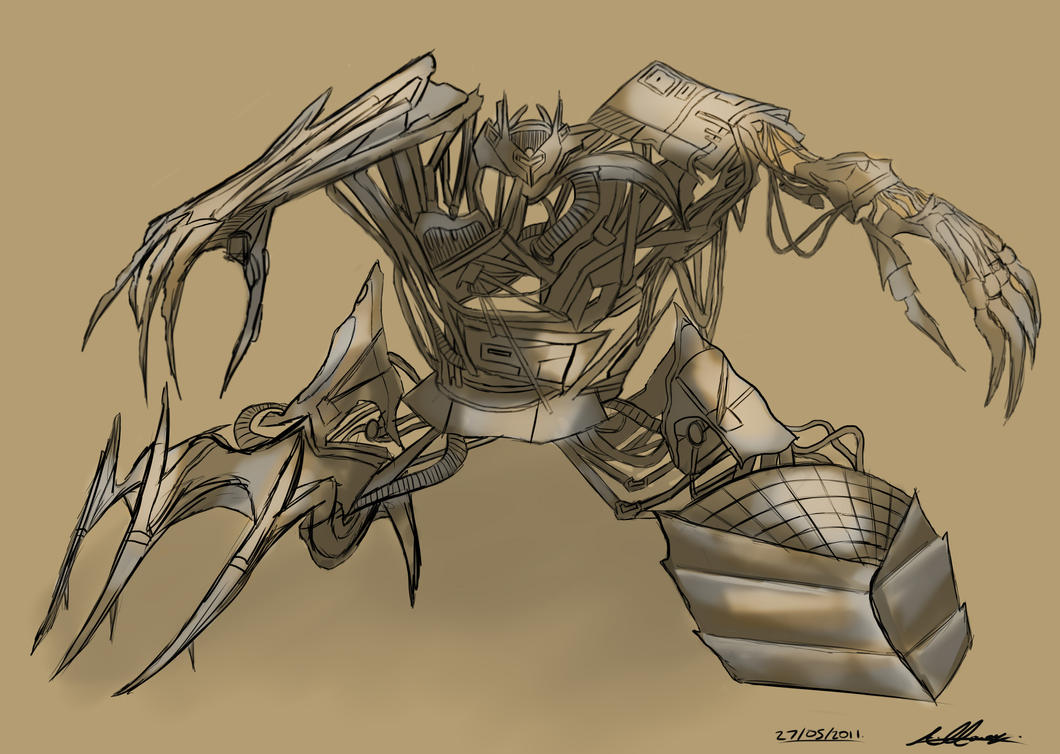Mech Design - Kamikazee by Adam-Clowery