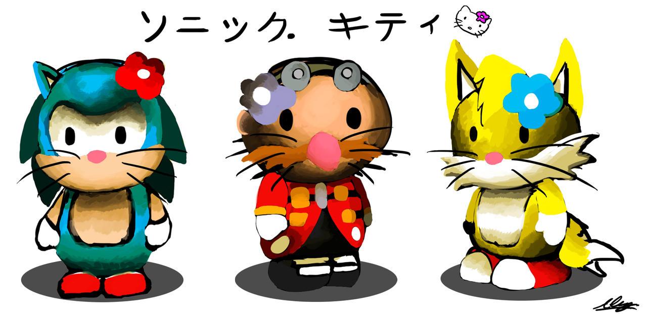Hello Sonic Kitty! by Adam-Clowery