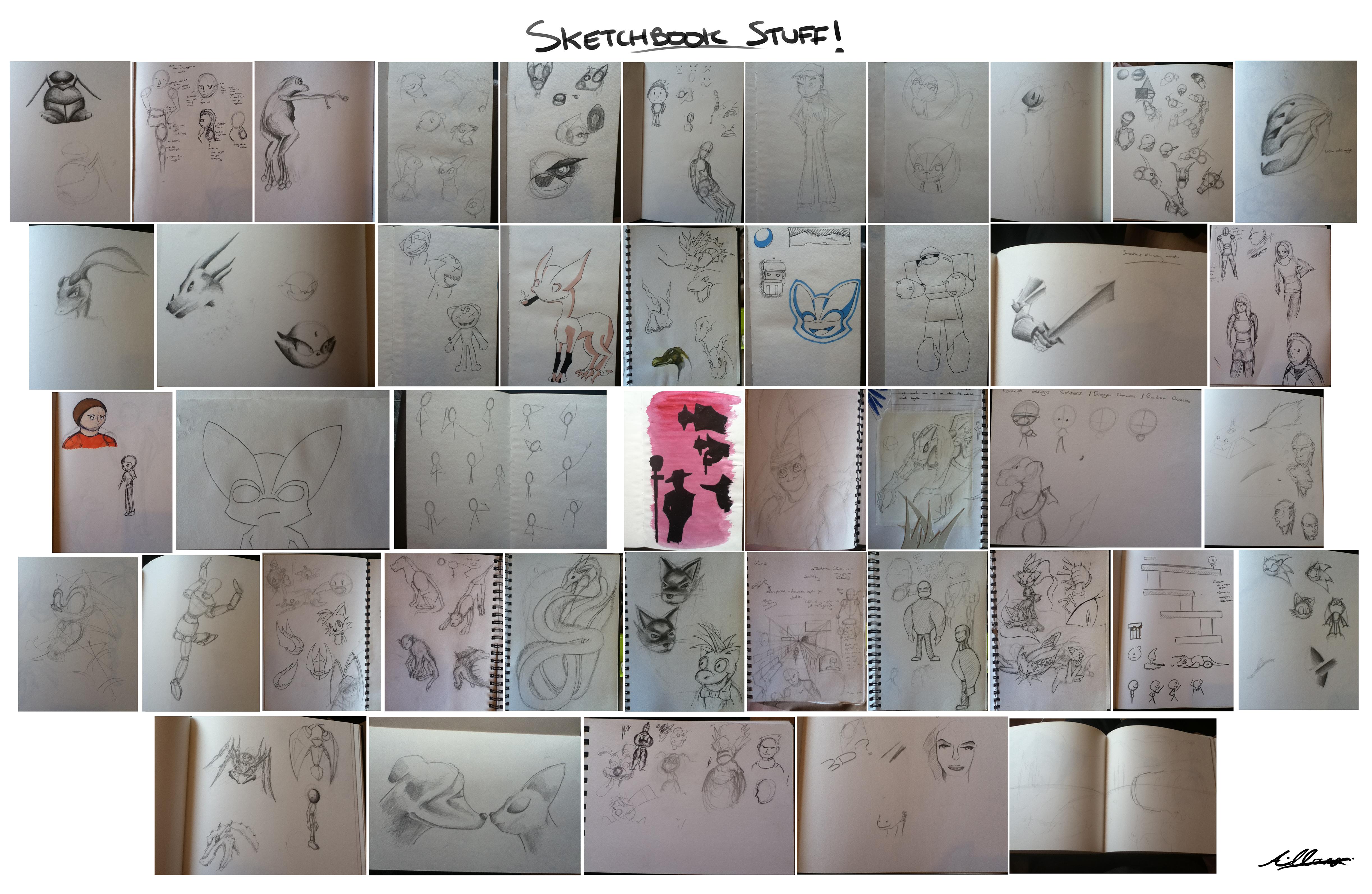 My Sketchbook Stuff by Adam-Clowery