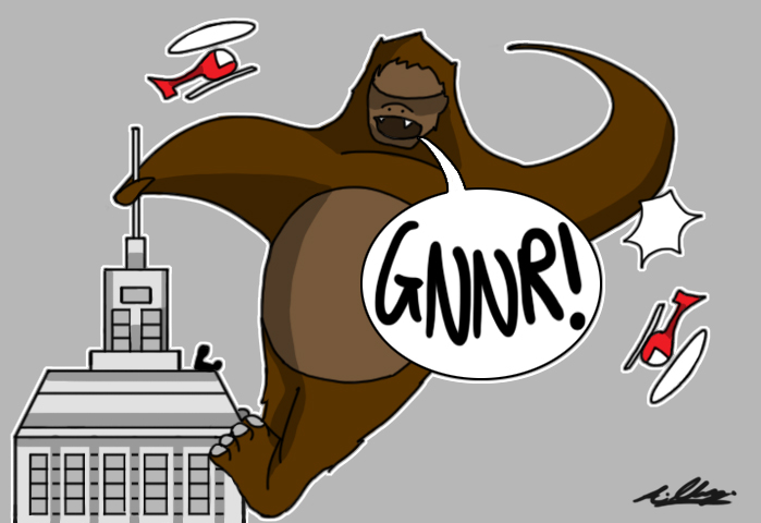 King Kong Cartoon by AdamClowery on DeviantArt