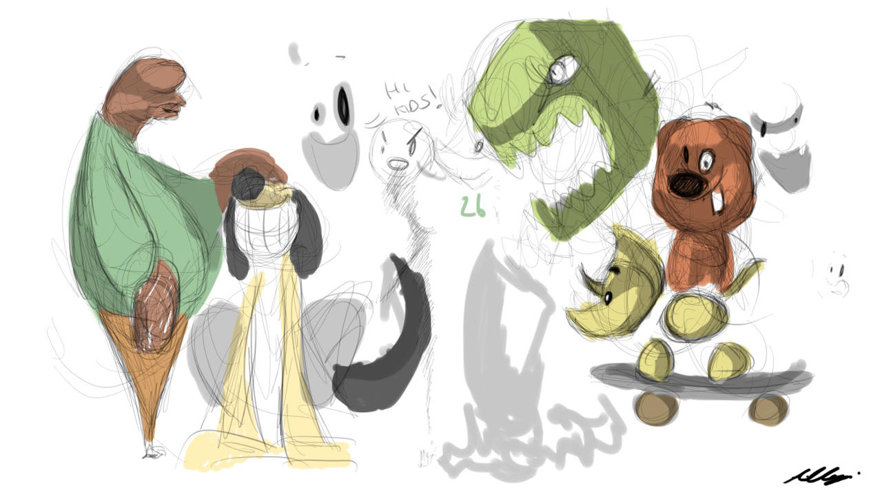 Another Doodle page by Adam-Clowery