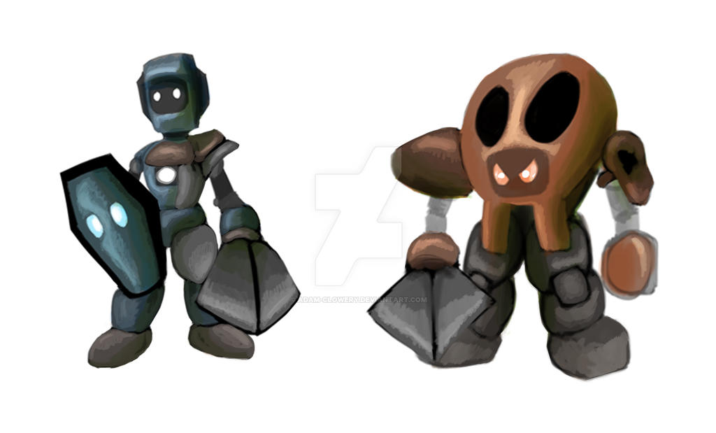 Bot-Wars characters by Adam-Clowery