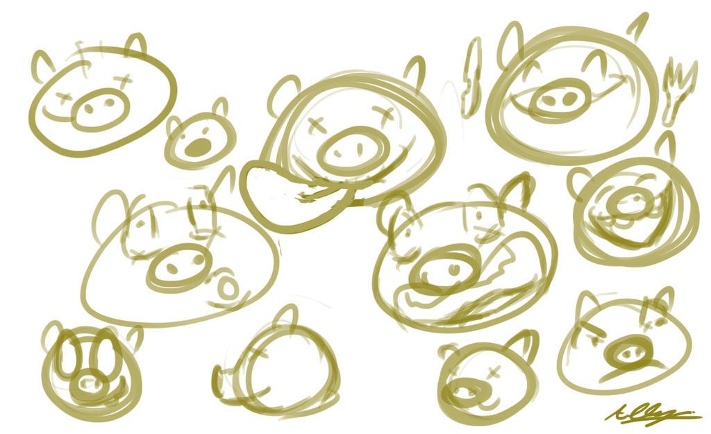 Doodles of Bad Piggies by Adam-Clowery
